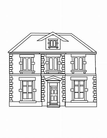 Coloring Drawing Perspective Pages Houses Teacher Printable