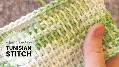 tunisian afghan crochet stitch crochet tutorial