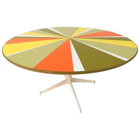 mid century modern  pop art pinwheel laminate dining table  sale  stdibs