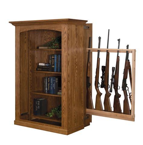 small bookcase  hidden gun cabinet  dutchcrafters