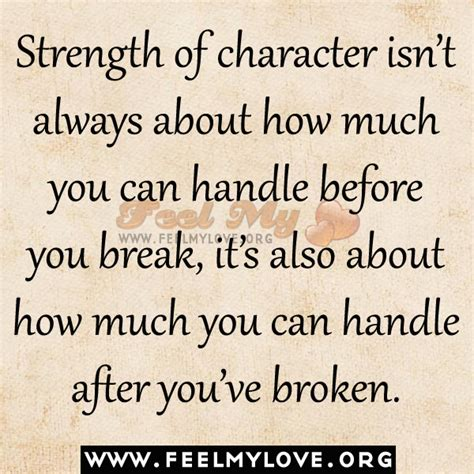 how many in a handle break up strength quotes quotesgram