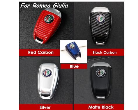 3d Carbon Fiber Looking Style Colorful Abs Car Key Case
