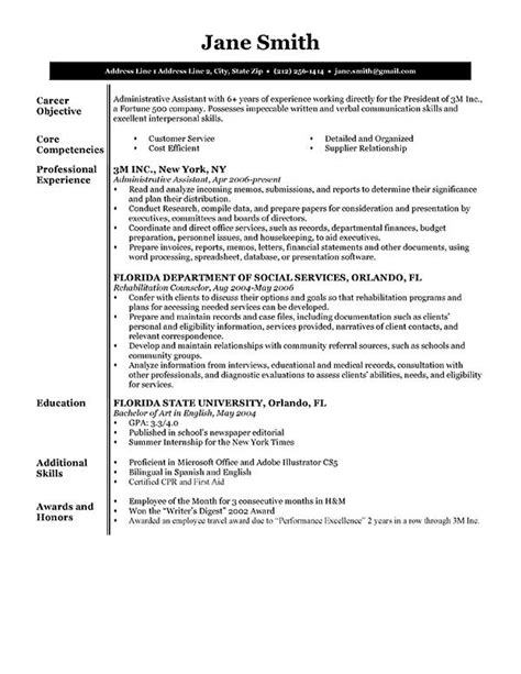 Free Resumes by 80 Free Professional Resume Exles By Industry