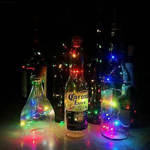 Flaschenkorken Mit Led : lichterkette flaschenkorken flaschenbeleuchtung mit 8 micro leds eur 1 99 picclick de ~ Yasmunasinghe.com Haus und Dekorationen