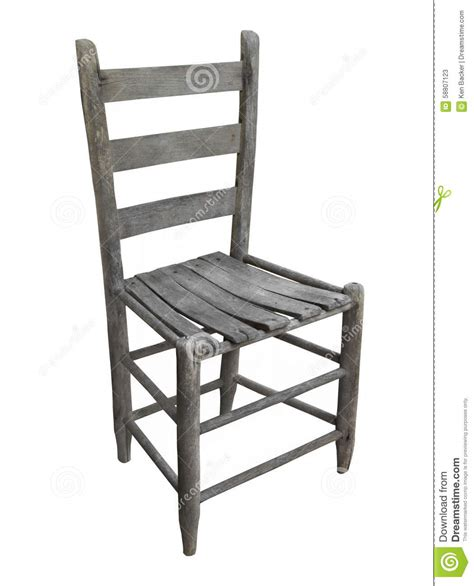 wooden ladder back chairs rustic wooden chair isolated stock photo image 7165
