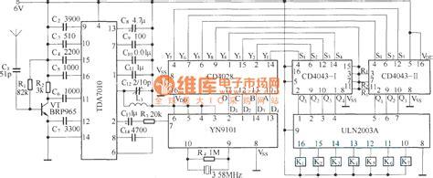 Dtmf Channels Remote Control Circuit Diagram