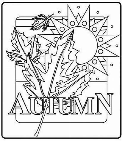 Coloring Pages Autumn Fall Printable Everfreecoloring Number