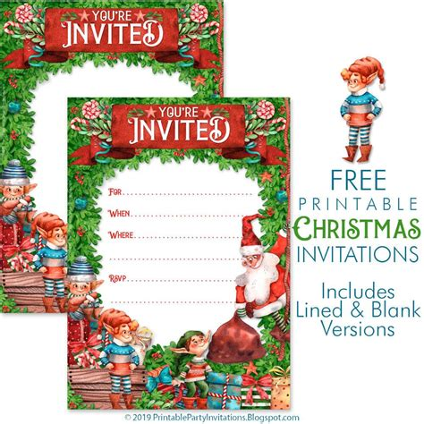 printable holiday party invitations christmasdiy