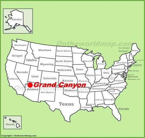 grand canyon location    map