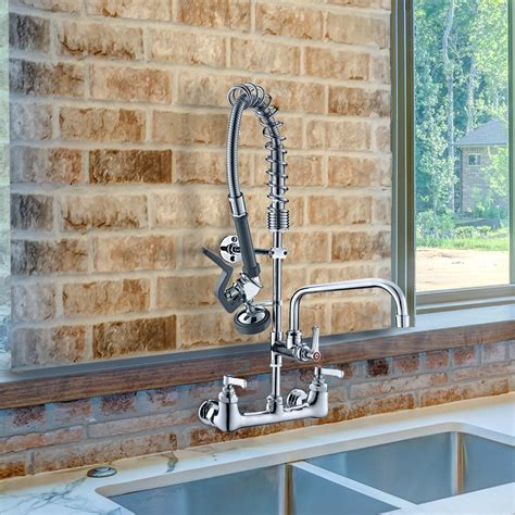 8 Inch Wall Mount Kitchen Faucet by Commercial Kitchen Faucet Mstjry 8 Inch Center Wall Mount