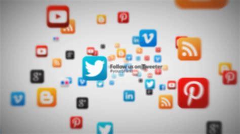 Digital Social Media Wallpaper by Social Media Icons 3d Fly Through Corporate Business Logo
