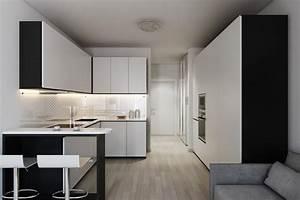 2 Small Apartment with Modern Minimalist Interior Design ...