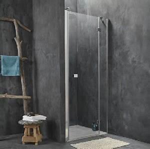 amenager douche italienne dans petite salle de bain en beton With porte de douche coulissante avec peinture carrelage mural salle de bain