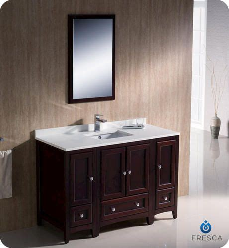 fresca oxford 48 quot mahogany traditional bathroom vanity w