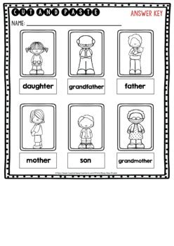 label  pictures worksheets family members  busy bee