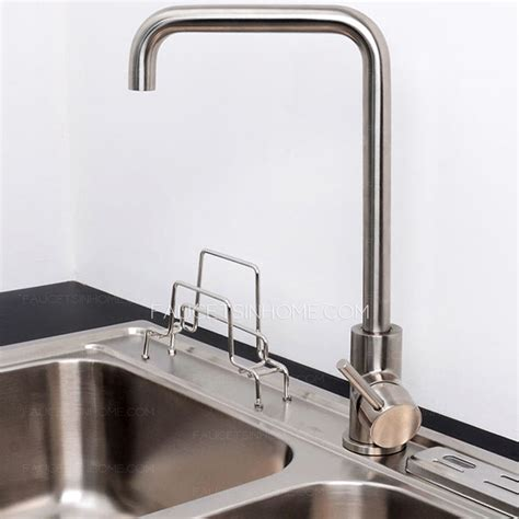 best stainless steel kitchen faucets best stainless steel seven shaped kitchen faucet nickel brushed