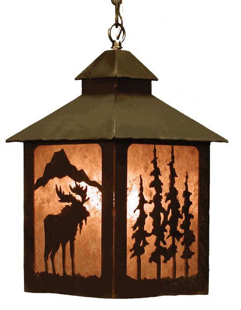 rustic lantern lights rustic chandeliers moose lantern pendant lightblack forest 2066