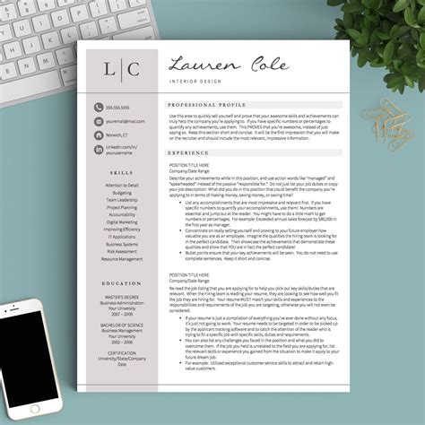Creative Resume Templates by Creative Resume Template For Word Pages 1 2 And 3 Page