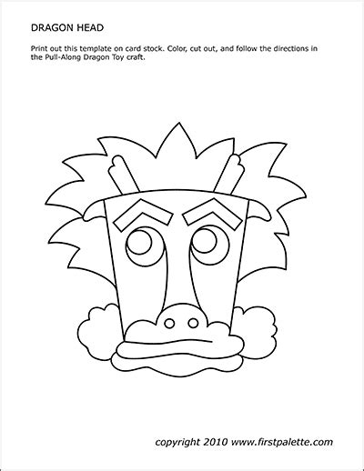 dragon head template  printable templates coloring
