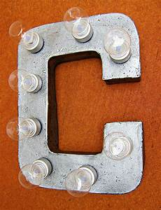 make your own light up marquee sign letters from paper With paper mache letter lights