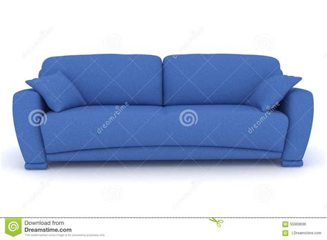 blue sofa pillows blue sofa with pillows stock illustration image of render