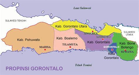 peta provinsi gorontalo