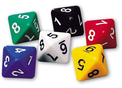 eight sided dice d8 0 75 universe games magic