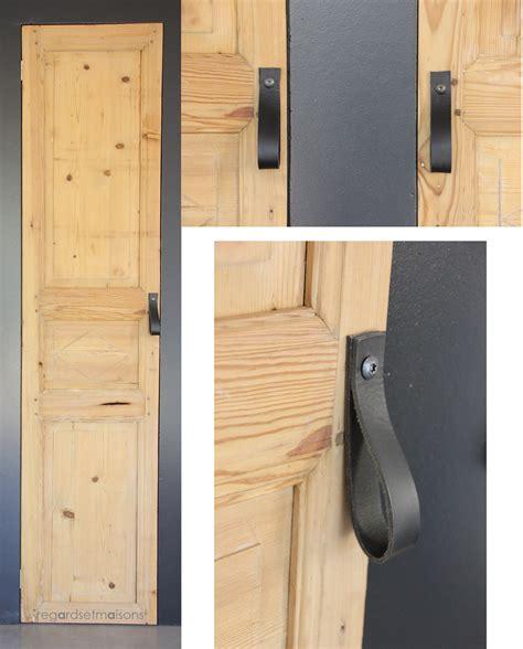 regardsetmaisons mes nouvelles poign 233 es de porte en cuir diy
