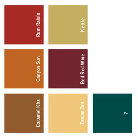 tuscan paint palette home ideas
