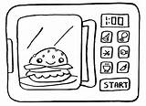 Microwave Sheets Coloring Template sketch template