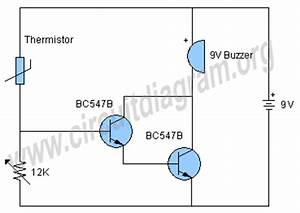 gt circuits gt temperature alarm circuit l35870 nextgr With sensor ldr circuit also simple relay circuit diagram together with led