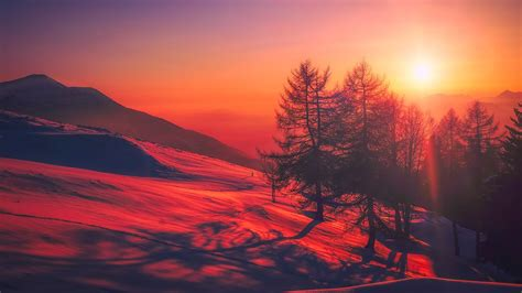 Free Morning Mountain Chromebook Wallpaper Ready For Download