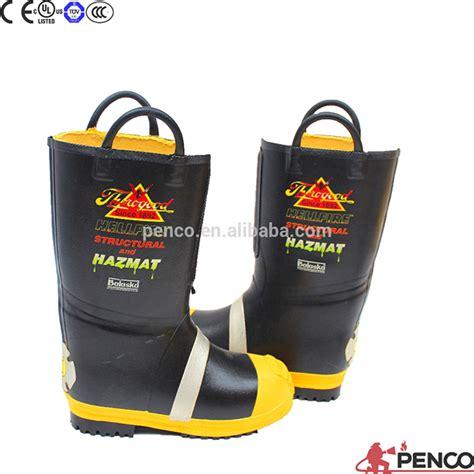 kuning nfpa en standar pemadam kebakaran sepatu sepatu