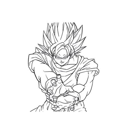 Goku Black Free Coloring Pages