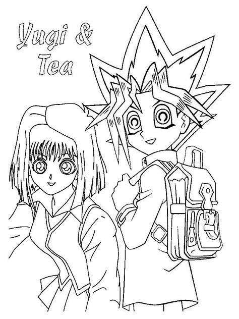 Kleurplaat Yu Gi Oh by Yu Gi Oh Coloring Pages Free Printable Yu Gi Oh Coloring
