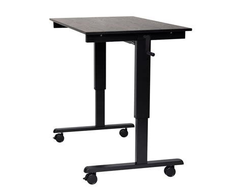 luxor crank adjustable stand up desk standcf tiger supplies