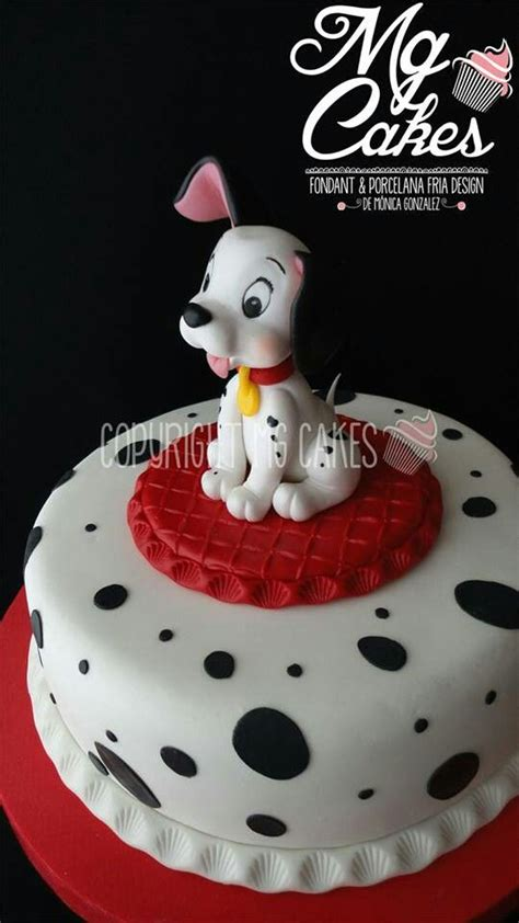 dalmatian cake   sugar art pinterest