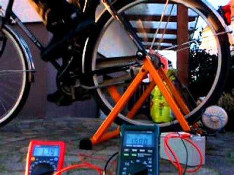 fahrradgenerator zur batterieladung im selbstbau mit ca 170watt leistung