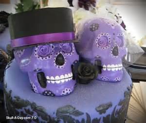 skull wedding cakes sugar skull wedding cake toppers