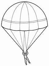 Parachute Drawing Paratrooper Sketch Coloring Template Parachutes Sheet Pencil Contingency Market Getdrawings Realistic Tags Templates sketch template