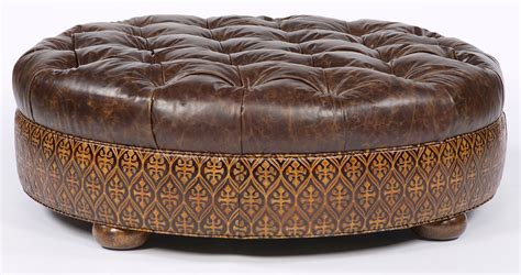 couch with large ottoman large round tufted leather ottoman american furniture