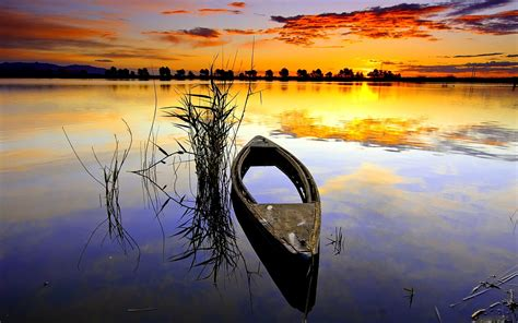 Boat Reflection Quotes by Canoe Full Hd Wallpaper And Background 1920x1200 Id 424251