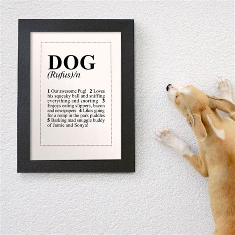personalised dictionary definition dog poster find   gift