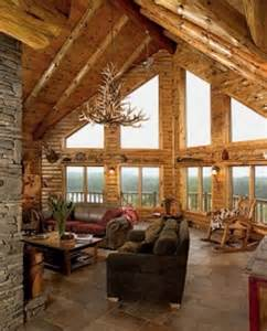 log cabin homes interior the big windows and high ceilings cabin 39 s i