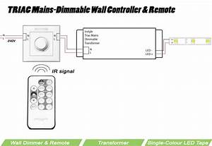 Triac Wall Dimmer With Remote Control For Instyle Led Tape