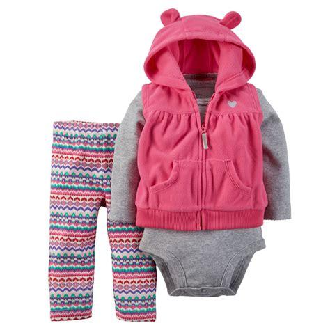 carters set 3 in 1 carters newborn 3 months hooded vest set baby