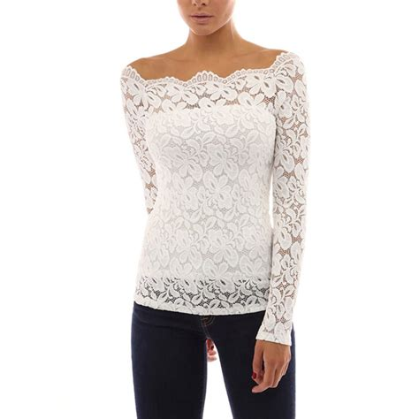 cotton blouses fashion womens sleeve shirt casual lace blouse