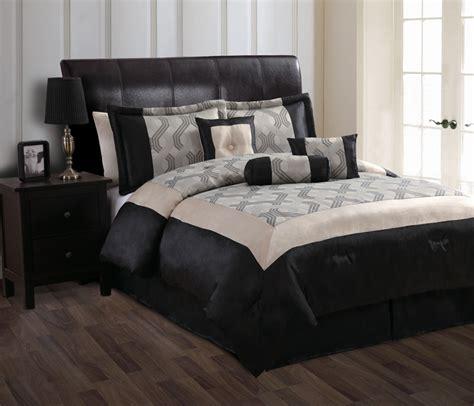 7 piece queen mckenzie beige and black comforter set ebay