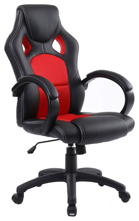 gaming tilt swivel high back leather office executive