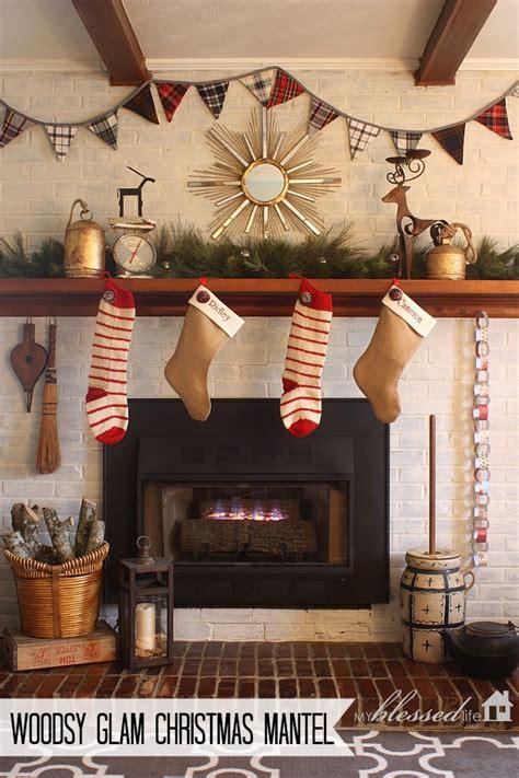 woodsy glam christmas mantel
